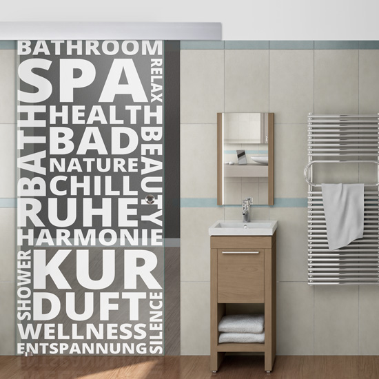 Glasschiebetür für Badezimmer