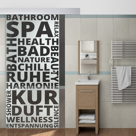 Schiebetür für Badezimmer