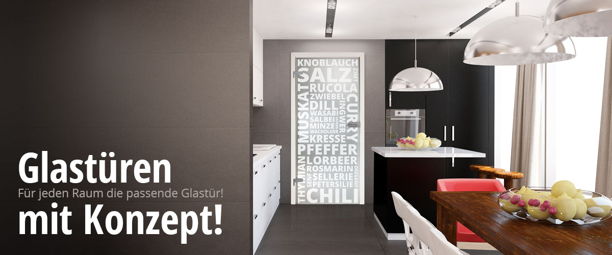 Glastüren für Küchen