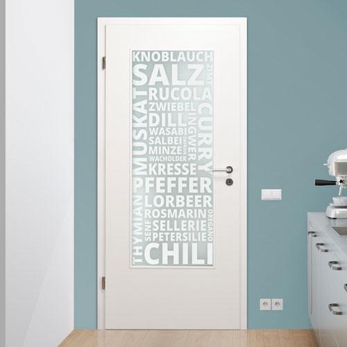Lichtausschnitt für Küchentüren