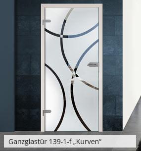 Glastür 139-1-f Kurven