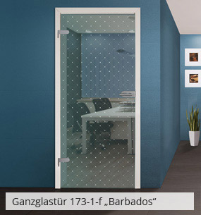 Glastür 173-1-f Barbados