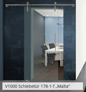 Glasschiebetür 178-1-f Malta