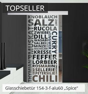 Glasschiebetür 154-3-f für Ihre Küche