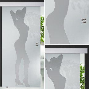 "Glasschiebetür 138-1-s-alu60 ""Frau"""