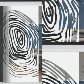 "Glasschiebetür 144-2-f-alu60 ""Fingerprint"""