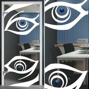 """Glastür 159-1-f """"Eyes"""""""