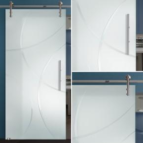 """Glasschiebetür 167-1r-s-v1000 """"Bola"""""""