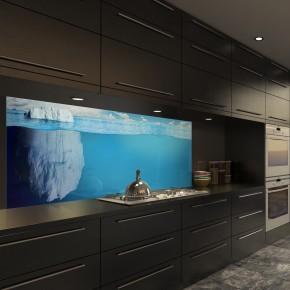 Glasbild Eisberg