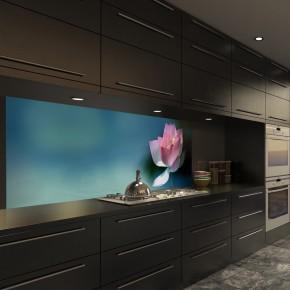 Glasbild Lotusblume