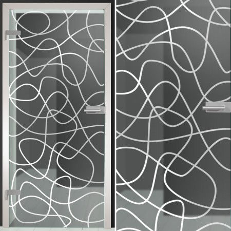 "Glastür 134-1-f ""Maze"""