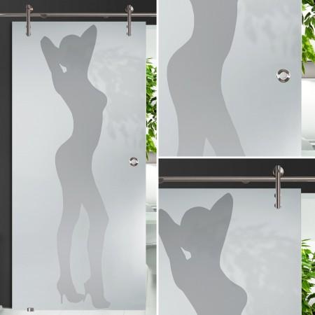 """Glasschiebetür 138-1-s-v1000 """"Frau"""""""