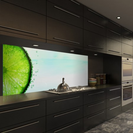 Glasbild Lime