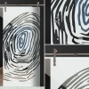 "Glasschiebetür 144-2-f-v1000 ""Fingerprint"""