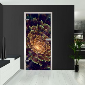 Ganzglastüren - Blume Abstrakt