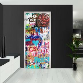 Ganzglastüren - Graffiti
