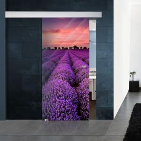Schiebetür ALU60 - Lavendel