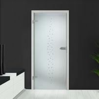 Einfach badezimmer-interieur mit glastür dusche fototapete ...