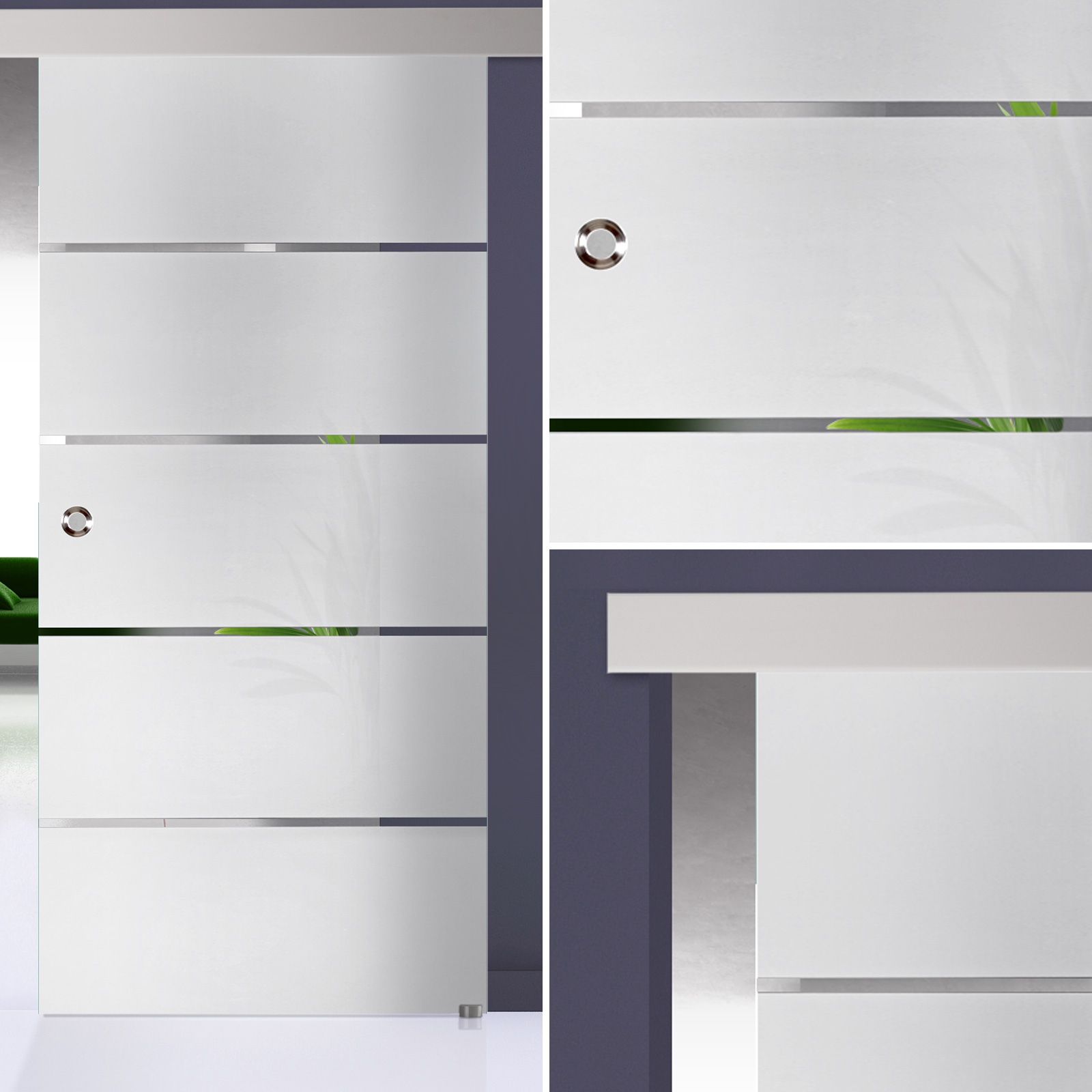 glasschiebet r 125 1 f alu60 streifen kueche. Black Bedroom Furniture Sets. Home Design Ideas