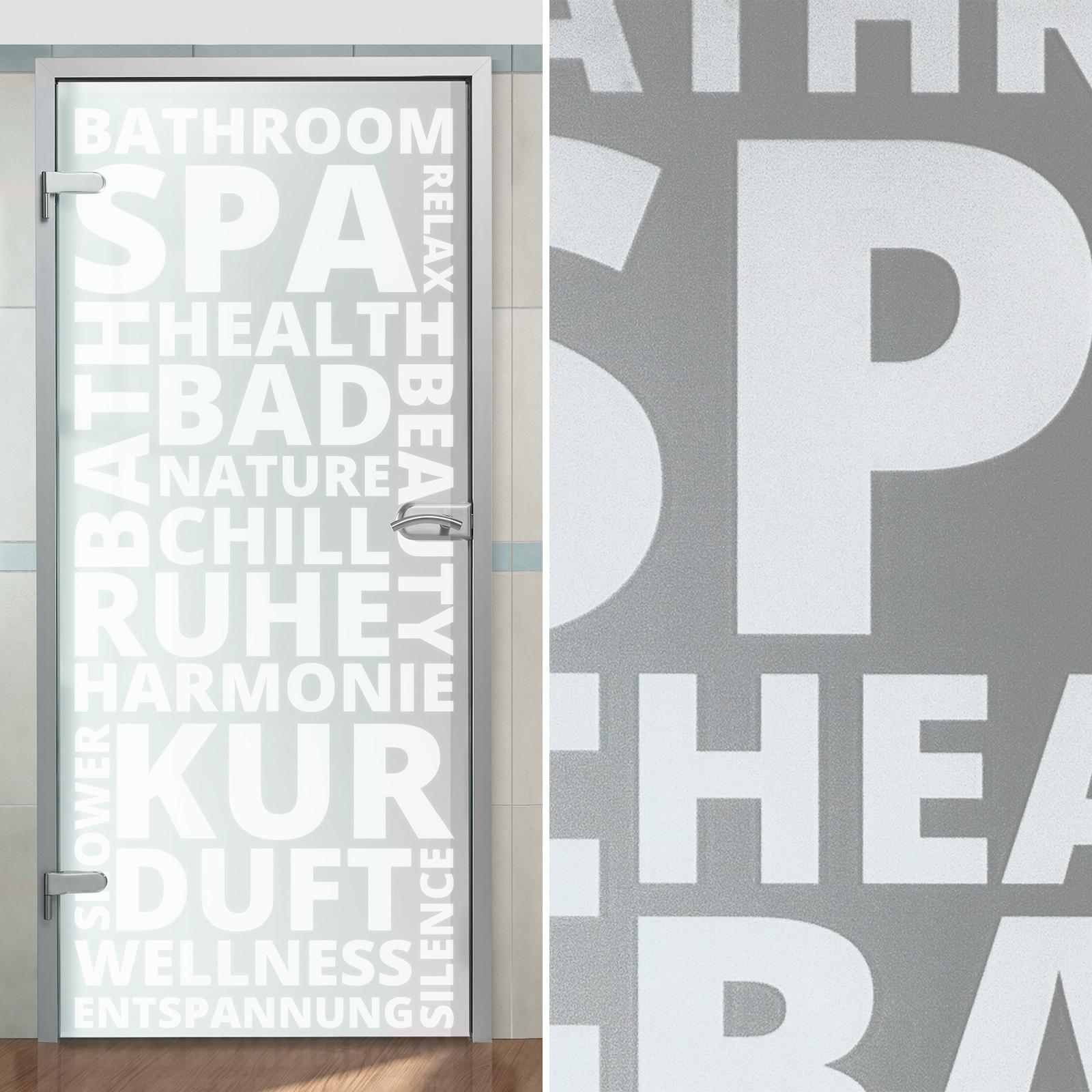 GlastüR Badezimmer Blickdicht BE97 – Hitoiro