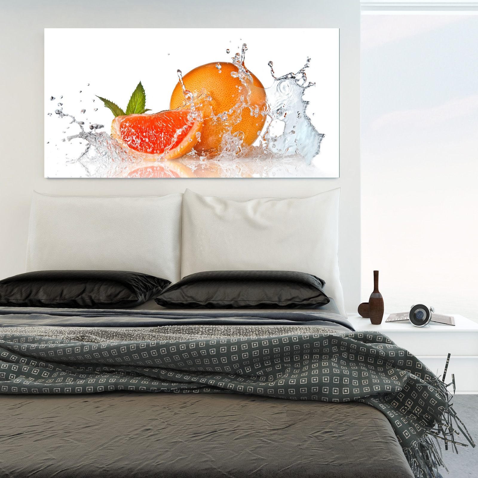 Glasbild Orange