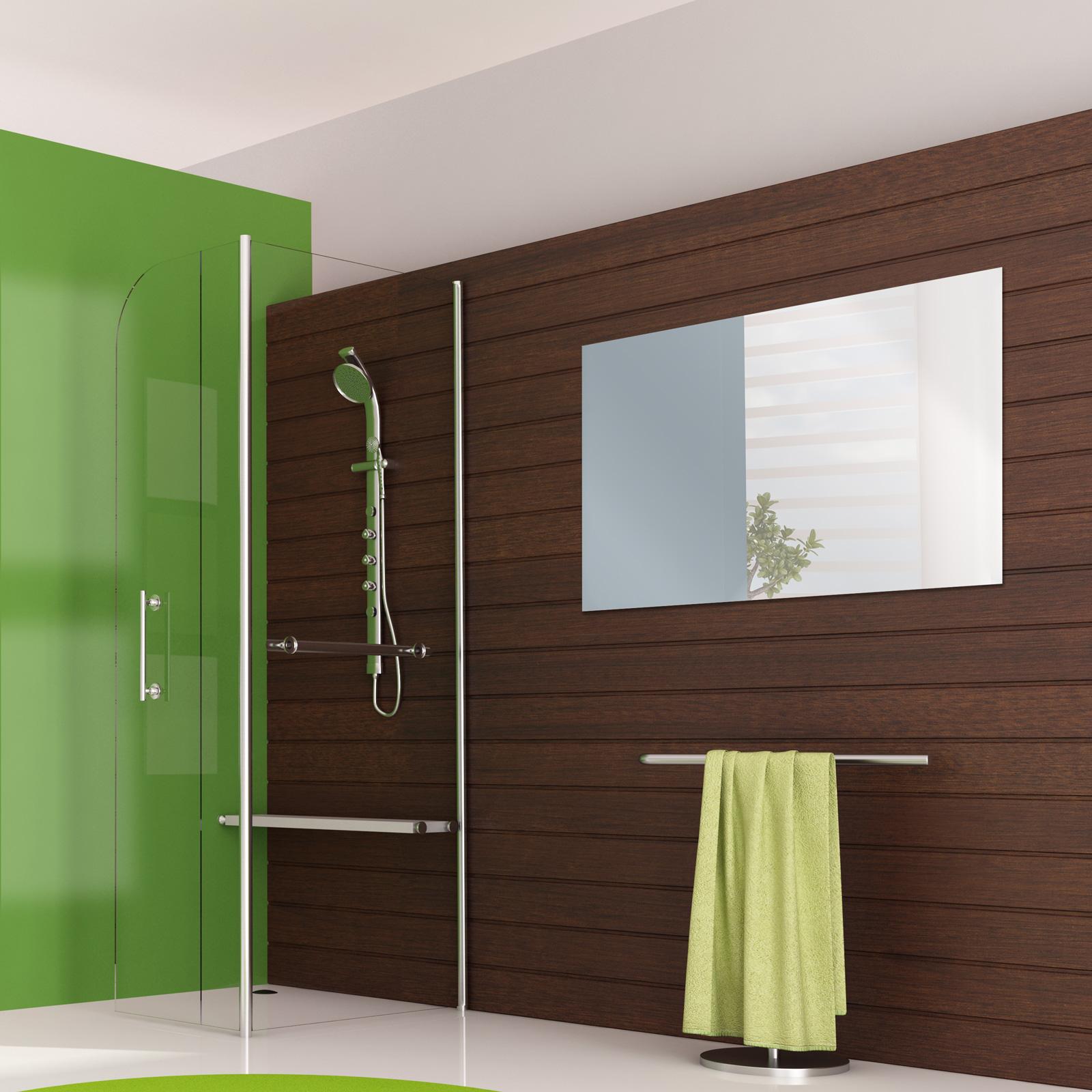 wandspiegel ohne facette badezimmer. Black Bedroom Furniture Sets. Home Design Ideas