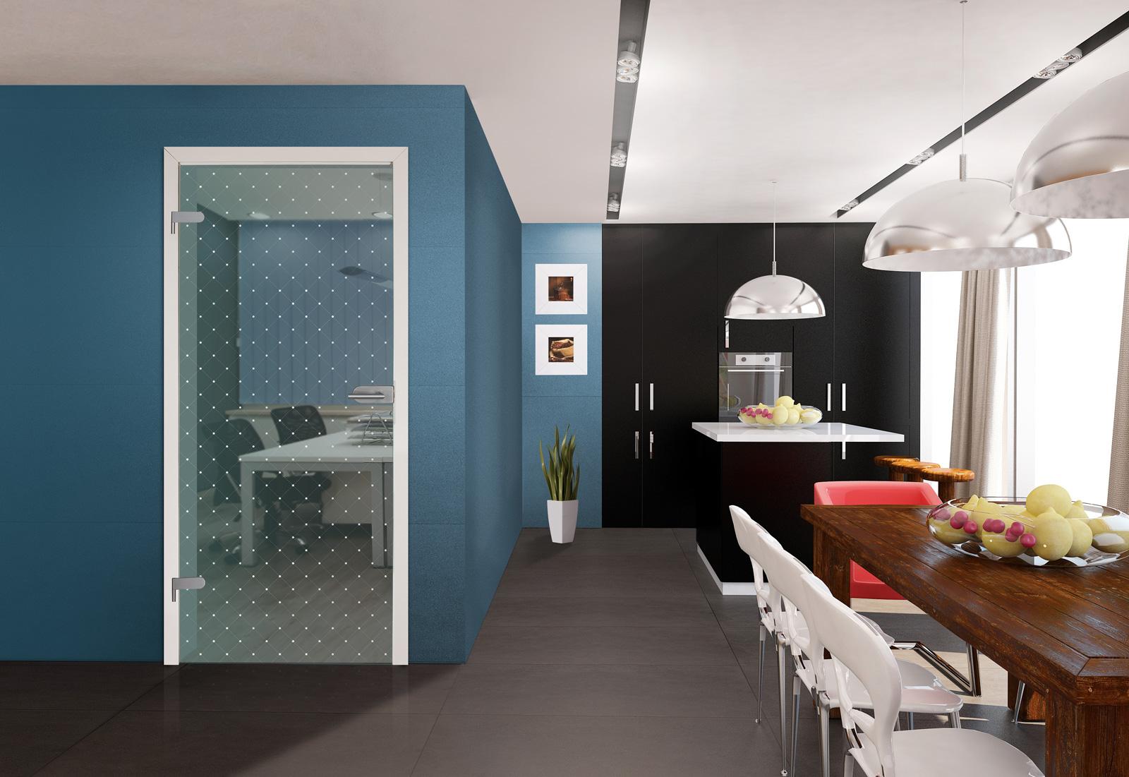 Glastur 173 1 f quotbarbadosquot kueche for Glastür küche