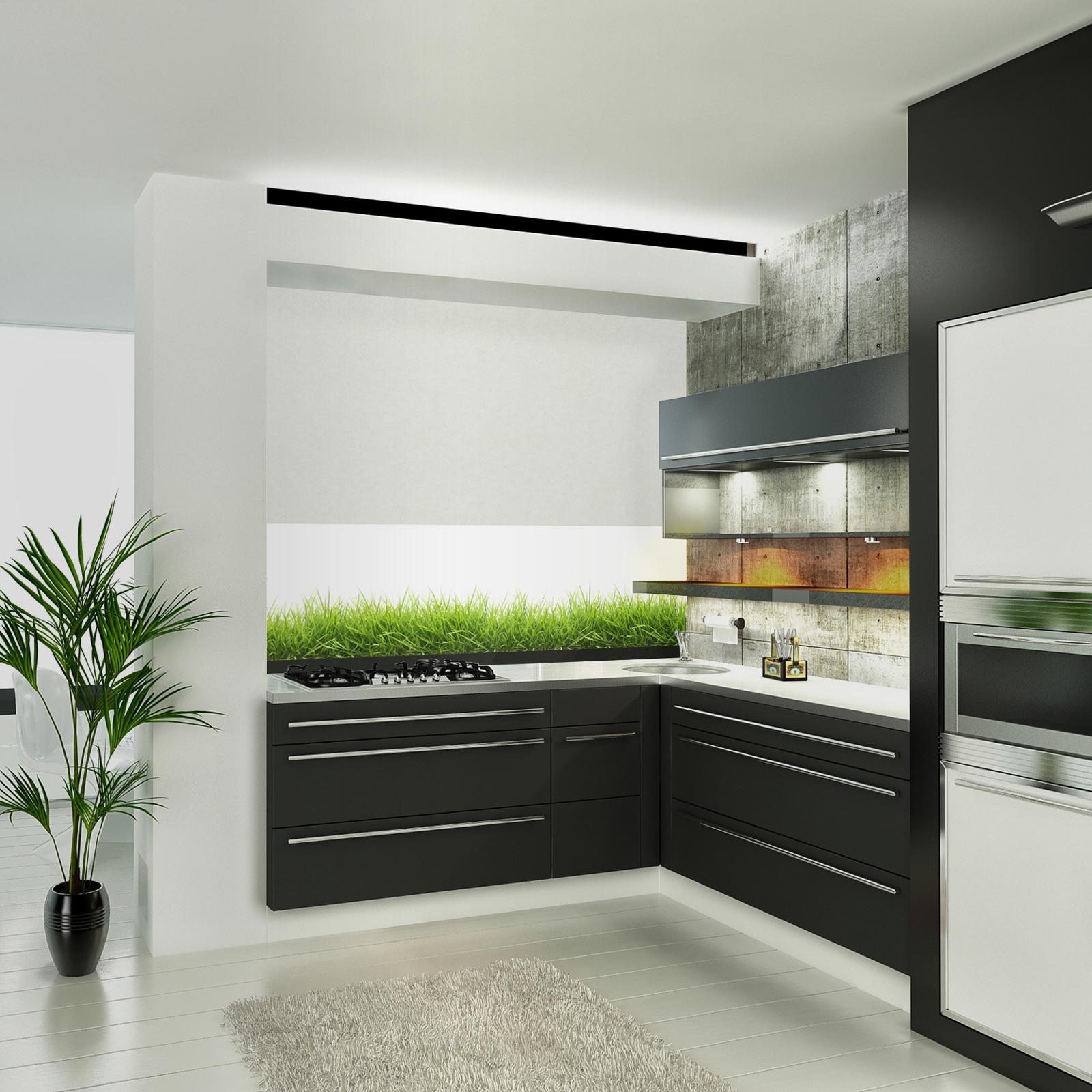 glasbild gras. Black Bedroom Furniture Sets. Home Design Ideas