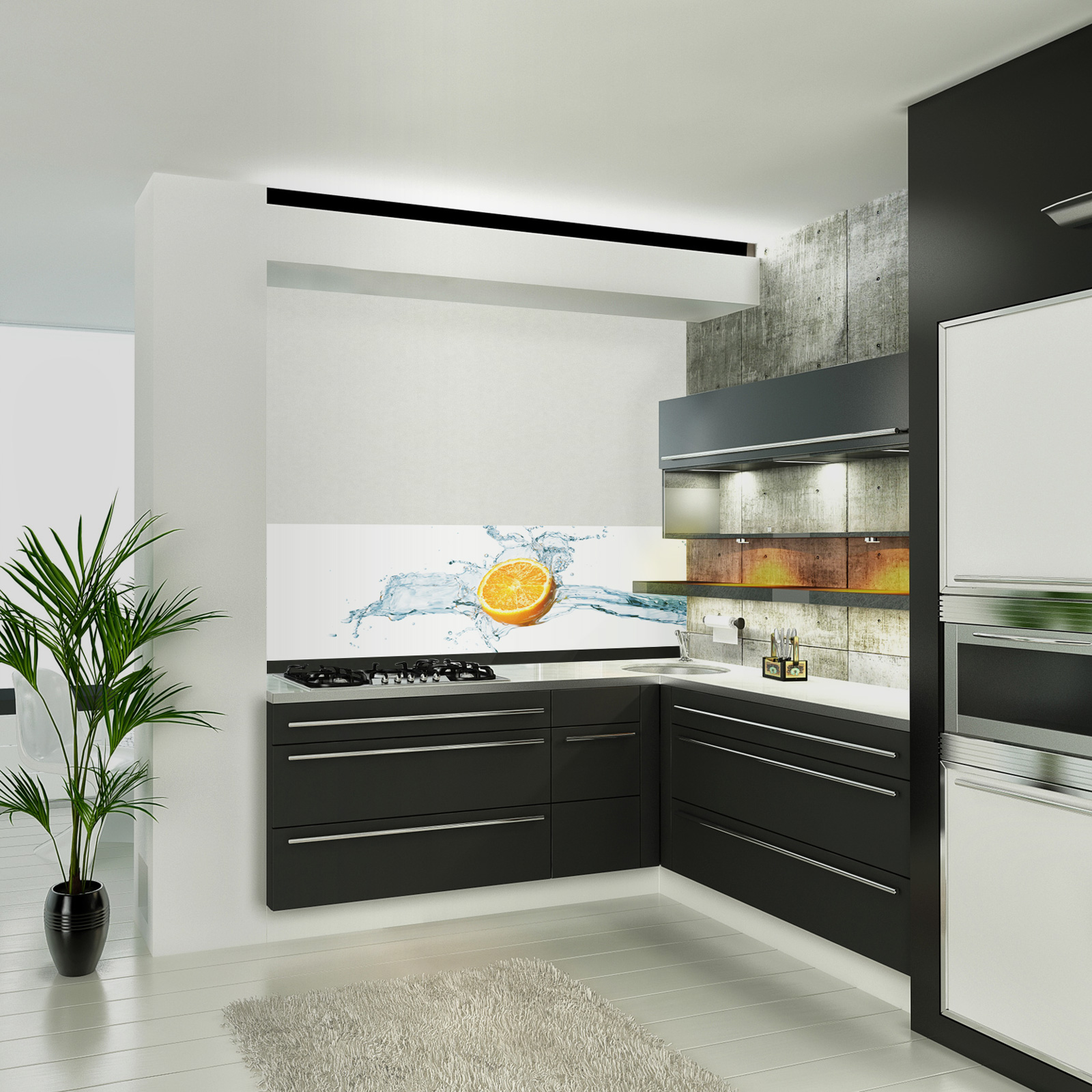 glasbild zitrone. Black Bedroom Furniture Sets. Home Design Ideas