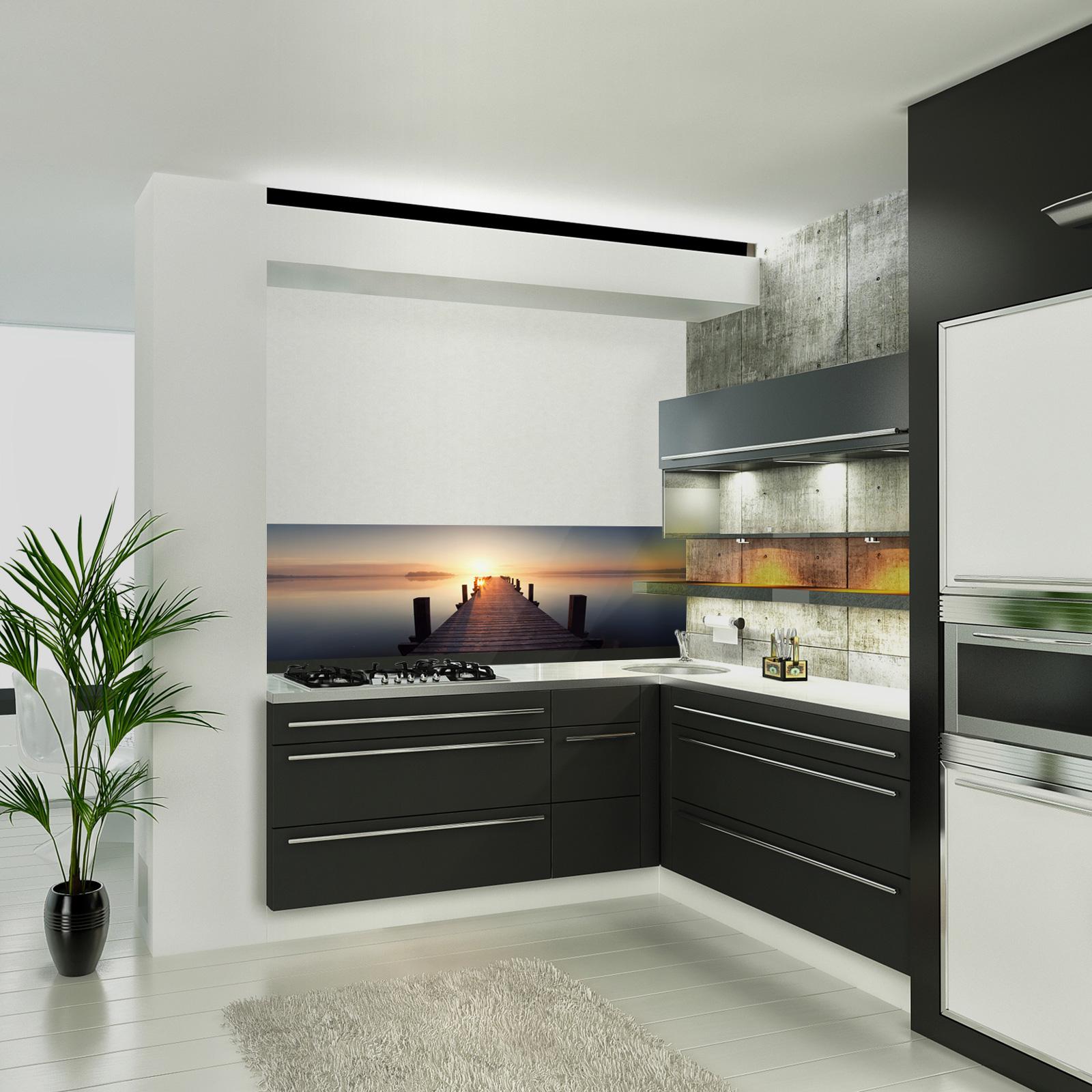 glasbild steg. Black Bedroom Furniture Sets. Home Design Ideas