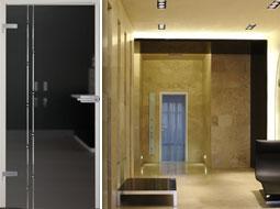 Glastüren für Flur, Korridor und Durchgangszimmer