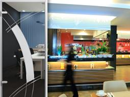 Glastüren für Restaurants, Bars und Diskotheken
